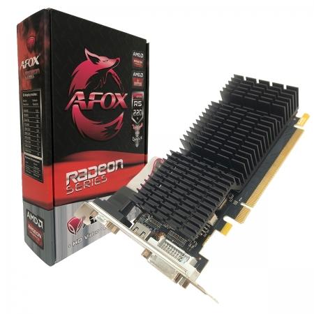 Placa de Vídeo AFOX Radeon R5 220, 1GB, DDR3, 64Bit, Low Profile, HDMI/DVI/VGA - AFR5220-1024D3L9-V2