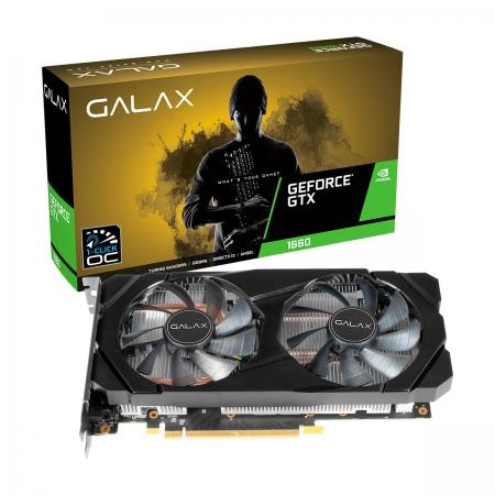 Placa de Vídeo Galax GeForce GTX 1660 (1-Click OC), 6GB, GDDR5, 192 Bits - 60SRH7DSY91C