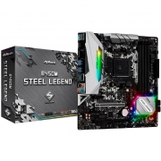 Placa Mãe ASRock B450M Steel Legend, AMD AM4, DDR4, mATX