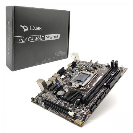 Placa Mãe Duex DX H110Z, Intel 6ª Geração, DDR4, LGA1151