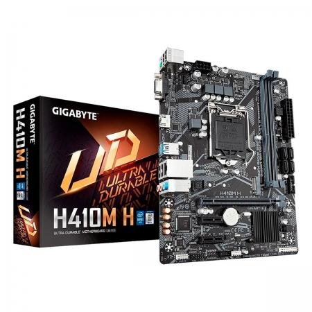 Placa Mãe Gigabyte H410M-H, Intel 10ª Geração, LGA1200, DDR4, Micro ATX
