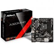 Placa Mãe P/amd Asrock A320m-hd Am4 Ddr4 Micro Atx