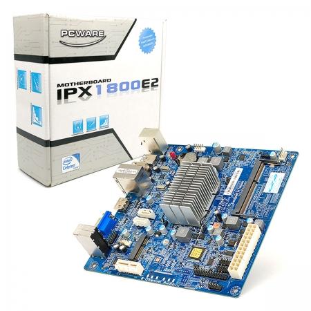 Placa Mãe PCWare IPX1800E2, DDR3/L SO-DIMM, Intel J1800 Integrada, HDMI e m-SATA