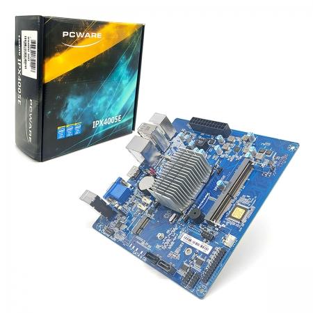 Placa Mãe Pcware IPX4005E, Intel Celeron J4005 Integrada, Dual Core, DDR4 - Mini ITX