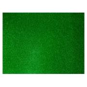 Placas de E.V.A. Com Glitter 1,8 mm, 40 x 60 cm, Contém 05 Placas, Dubflex - Verde