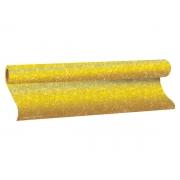 Plástico Adesivo Com Gliter Dourado, 1 Rolo de 45cm x 10m - Dac