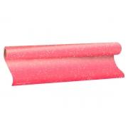 Plástico Adesivo Com Gliter Rosa, 1 Rolo de 45cm x 10m - Dac