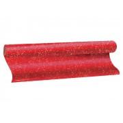 Plástico Adesivo Com Gliter Vermelho, 1 Rolo de 45cm x 10m - Dac