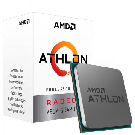 Processador AMD Athlon 3000G, 3.5GHz Dual Core/4-Thread, AM4, 5MB Cache, Radeon VEGA 3