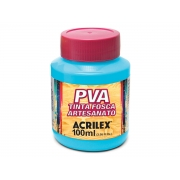 PVA Tinta Fosca para Artesanato, 100 ml, Contém 6 Unidades, Acrilex - Azul Marinho