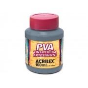PVA Tinta Fosca para Artesanato, 100 ml, Contém 6 Unidades, Acrilex - Cinza Lunar