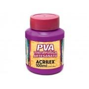 PVA Tinta Fosca para Artesanato, 100 ml, Contém 6 Unidades, Acrilex - Magenta
