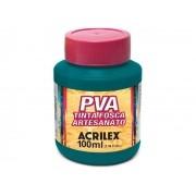 PVA Tinta Fosca para Artesanato, 100 ml, Contém 6 Unidades, Acrilex - Verde Bandeira