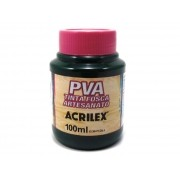 PVA Tinta Fosca para Artesanato, 100 ml, Contém 6 Unidades, Acrilex - Verde Esmeralda