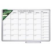 Quadro Branco Luxo de Planejamento Mensal Moldura de Alumínio Luxo 90 x 60 Cm Souza - 6334