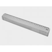 Régua 30 cm, Contém 25 Unidades, Waleu - Cristal - 10270012