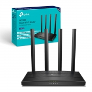 Roteador TP-Link Archer C6 AC1200 Gigabit, MU-MIMO, Wireless Wi-Fi 5, Dual Band, 4 Antenas, OneMesh