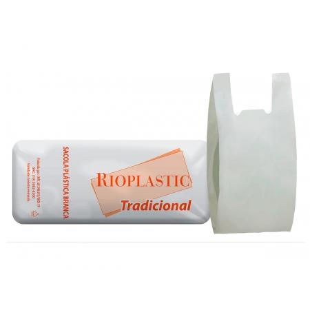 Sacola Plástica Branca, Linha Tradicional, 50cm x 60cm, Pacote C/ 1.000 Unidades - Rioplastic