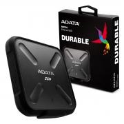 SSD Externo Adata SD700, 512GB, Leitura 440MB/s, Grav. 430MB/s, USB 3.2, Preto - ASD700-512GU31-CBK