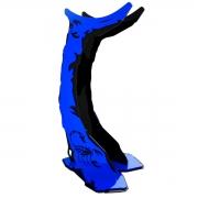Suporte para Headset Rise Mode Preto e Azul - RM-SC-01-BB
