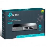 Switch 16 Portas TP-Link TL-SG1016D Gigabit 10/100/1000 Mbps Montagem em Rack/Desk