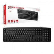 Teclado C3Tech C3Plus KB-11BKV2, USB, ABNT2, Preto