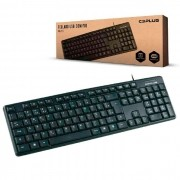 Teclado C3Tech C3Plus KB-15BK, USB, ABNT2, Preto