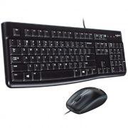 Teclado e Mouse Óptico USB Logitech MK120 Preto