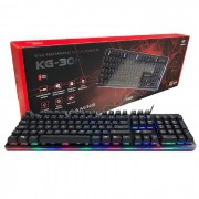 Teclado Gamer C3Tech KG-300BK USB LED Semi-Mecânico ABNT2