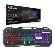 Teclado Gamer C3Tech KG-40BK, USB 2.0, ABNT2, LED RGB, Preto