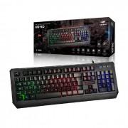 Teclado Gamer C3Tech KG-50BK USB ABNT2 Iluminação LED RGB 19 Teclas Antighosting
