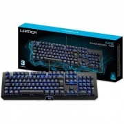 Teclado Gamer Mecânico e Macro Multilaser Kane Warrior TC236, ABNT2, Switch Brown, LED Azul, USB 2.0