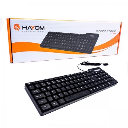 Teclado Hayom TC3201, USB, ABNT2, Preto