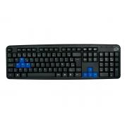 Teclado Newlink Level TC308, USB, Preto/Azul, ABNT2