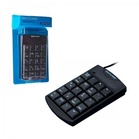Teclado Numérico Multilaser TC229, USB, Preto