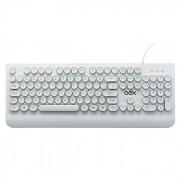 Teclado OEX POP IN TC401, USB, ABNT2, Apoio para Digitação, Teclas Arredondadas, Branco