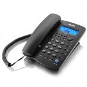 Telefone Com Fio, Identificador de Chamada e Viva Voz, Elgin - Preto - 42TCF3000000