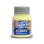 Tinta para Tecido Fosca, 37 ml, Contém 12 Unidades, Acrilex - Amarelo Bebê