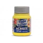 Tinta para Tecido Fosca, 37 ml, Contém 12 Unidades, Acrilex - Amarelo Canário