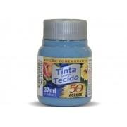 Tinta para Tecido Fosca, 37 ml, Contém 12 Unidades, Acrilex - Azul Inverno