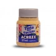 Tinta para Tecido Fosca, 37 ml, Contém 12 Unidades, Acrilex - Camurça