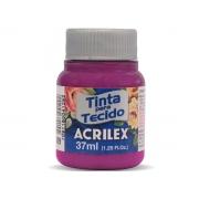 Tinta para Tecido Fosca, 37 ml, Contém 12 Unidades, Acrilex - Magenta