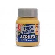 Tinta para Tecido Fosca, 37 ml, Contém 12 Unidades, Acrilex - Mostarda