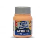 Tinta para Tecido Fosca, 37 ml, Contém 12 Unidades, Acrilex - Pêssego
