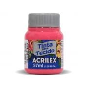 Tinta para Tecido Fosca, 37 ml, Contém 12 Unidades, Acrilex - Pink