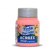 Tinta para Tecido Fosca, 37 ml, Contém 12 Unidades, Acrilex - Rosa
