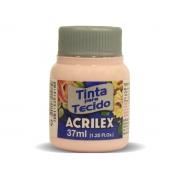 Tinta para Tecido Fosca, 37 ml, Contém 12 Unidades, Acrilex - Rosa Bebê