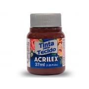 Tinta para Tecido Fosca, 37 ml, Contém 12 Unidades, Acrilex - Terra Queimada