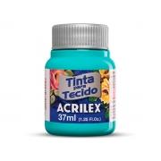 Tinta para Tecido Fosca, 37 ml, Contém 12 Unidades, Acrilex - Turquesa