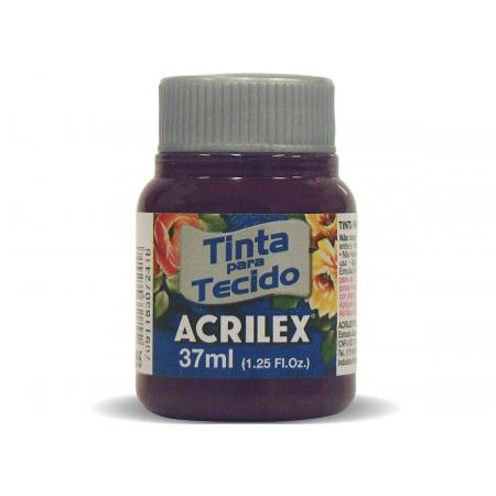 Tinta para Tecido Fosca, 37 ml, Contém 12 Unidades, Acrilex - Uva